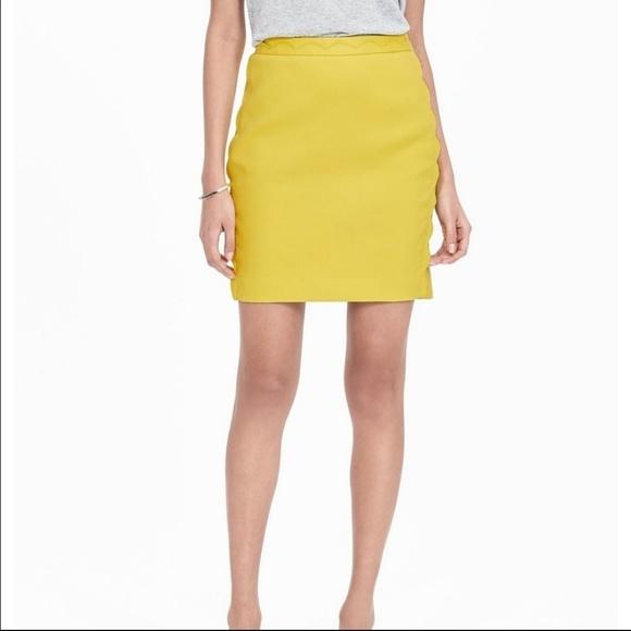 0f15150c4e Banana Republic Skirts | Size 12 Bright Lemon Yellow Skirt | Poshmark